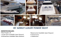 85′ Azimut Luxury Power Yacht