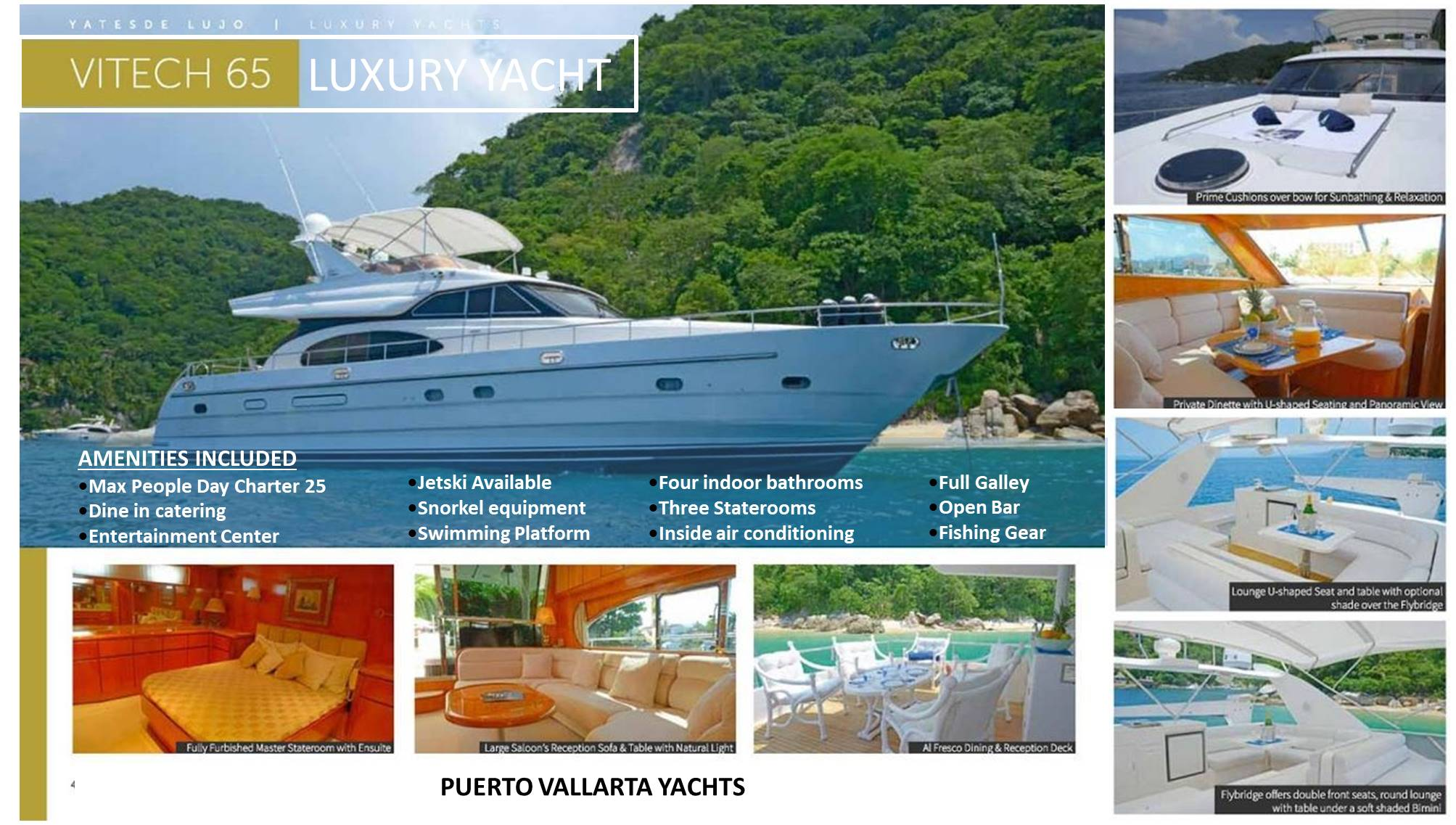 65′ Vitech Luxury Yacht Front Page